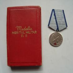 Medalia Meritul Militar cls. a II-a RSR, la cutie, impecabila