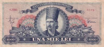 Romania 1000 lei 18 iunie 1948 - Tudor Vladimirescu - P-85 foto