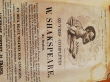 W. Shakespeare, tipar Paris 1837,  350 pagini, stare modesta, completa