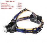 Lanterna frontala de cap LED Zoom 2x acumulatori