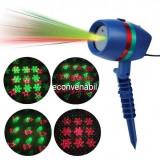 Laser Proiector tip Star Shower Figurine Craciun Rosu Verde LZ9605