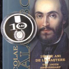 Moneda argint 190 de ani de la naşterea lui Nicolae Bălcescu