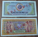 REPRODUCERE  bancnota specimen 1 milion 1947-  Romania