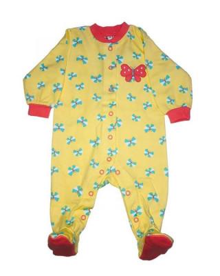 Salopeta / Pijama bebe cu fluturasi Z05 foto