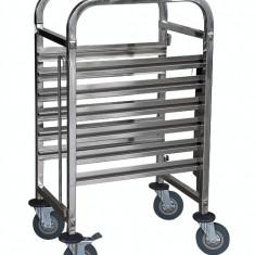 Carucior transport RAKI pentru tavi castronorm GN cu 6 nivele