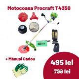 Cumpara ieftin Motocoasa Procraft Germany T4350 cu 4 sisteme de taiere, 4.35 KW, 9000 RPM