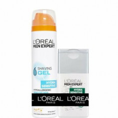 Pachet promotional L'Oreal Paris Men Expert Gel ras 200 ml + After Shave 125 ml