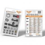 Kit accesorii universal pulverizator Ruris (Duza conica dubla; Duza sigal; Duza reglabila; Duza din alama; Duza cu 3 gauri – 3 seturi; Kit garnituri)