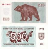 LITUANIA 500 talonas 1992 UNC!!!