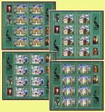 2008 Romania, Iasi 600 ani, 4 coli de 8 timbre + 4 viniete folio LP 1813 f, MNH, Istorie, Nestampilat
