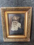 Tablou, Portret bătrân. Semnat M. Gheorghiu. Ulei pe carton datat 1954., Natura statica, Altul