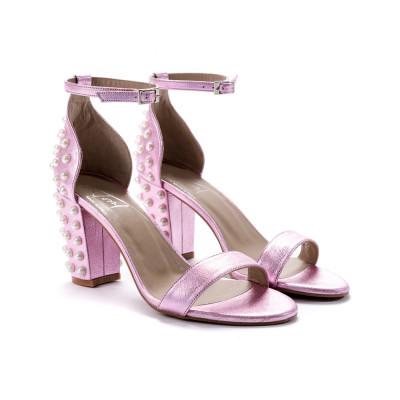 Sandale Roz Cu Perle foto