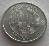 1000 Lei 2004 Romania, UNC, Luciu de batere