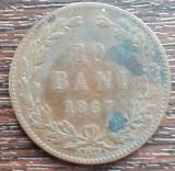 (MR11) MONEDA ROMANIA - 10 BANI 1867, WATT & CO