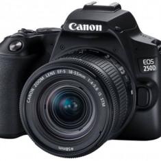 Aparat foto DSLR Canon EOS 250D 24Mpx WiFi Black Kit EF-S 18-55 DC