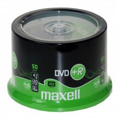 DVD+R 4.7 GB, viteza scriere 16X, 120 min, cake box, set 50 bucati, Maxell