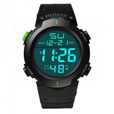 Ceas Barbatesc HONHX CS518, curea silicon, digital watch, functie cronometru, alarma