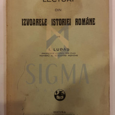 I. LUPAS - LECTURI DIN IZVOARELE ISTORIEI ROMANE