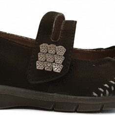 Pantofi dama casual din piele velur Jana 8-8-24611-20 001black