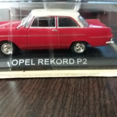 macheta opel rekord p2 + revista masini de legenda nr.55 - 1/43, noua.