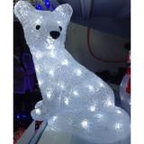 Figurina Luminoasa de Craciun Vulpe Polara 30cm 220V Acril LED 3175