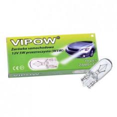 Bec auto 12v 5w alb clar (w5w)