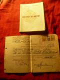 Certificat de origine sociala si Certificat de nastere 1952 RPR