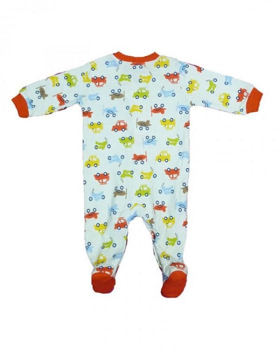 Salopeta / Pijama bebe cu masinute Z61