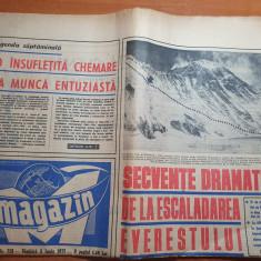 magazin 5 iunie 1971-articol escaladarea everestului,secvente dramatice