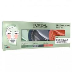 Kit 3 Masti pentru Ten L Oreal 3 Pure Clays Multi Masking Face Mask Play Kit 3 x 10 ml