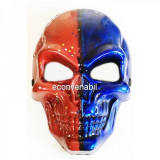Masca de Halloween si Carnaval Craniu Albastru Rosu cu stelute