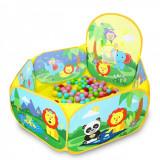 Cumpara ieftin Tarc de joaca MCT cu desene multicolore pentru copii cu cos de bachet si 25 bile colorate, Oem