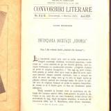 Colecția revistei CONVORBIRI LITERARE - Numar jubiliar 1892
