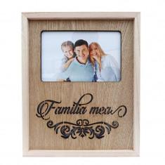 Rama foto lemn cu led, Familia mea, 517E