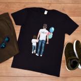 """Cumpara ieftin Tricou personalizat """"Tata cu baiat"""" (Marime: M, Marime imprimeu: A3 + 10 lei,..."""
