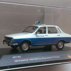 Macheta Dacia 1300 Militia 1970 - IST 1/43 (Politia)
