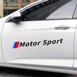 Set 2 stickere Motor Sport,negre 48 cm x 5 cm, BMW