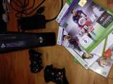 Xbox 360 S cu HDMI 1080p + 2 controllere wireless + 4 jocuri !