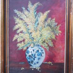 Tablou flori galbene semnat... an 1958