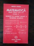 Ganga Matematica clasa 11 Elemente de algebra liniara si geometrie analitica