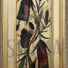 "TABLOU, STEFAN PELMUS "" FLOARE "" , U/C , 2000"