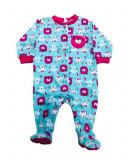 Salopeta / Pijama bebe cu iepurasi si ursuleti