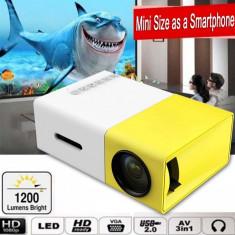 Mini proiector portabil, cu telecomanda, HDMI, Gonga