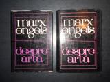KARL MARX, FRIEDRICH ENGELS - DESPRE ARTA 2 volume, editie cartonata