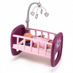 Leagan pentru papusa Play Smoby Baby Nurse mov cu carusel