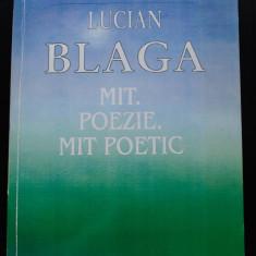 Eugen Todoran - Lucian Blaga - Mit. Poezie. Mit poetic