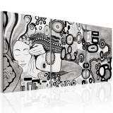 Tablou canvas 3 piese - Sarutul de argint - 120 x 60 cm, Artgeist