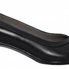 Pantofi dama din piele cu toc jos Ninna Art 112