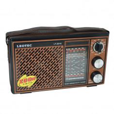 Radio portabil Leotec LT-2016, 11 benzi, curea mana