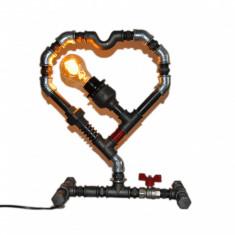 lampa inima steampunkdesigncj, lampa steampunk, corp de iluminat